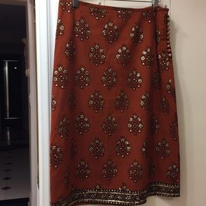 Cotton Skirt with sparkle beading